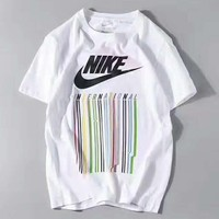 Fashion NIKE colorful stripe print short sleeve loose tee top H-A-GHSY-1 Tagre™