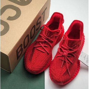 Red Adidas Yeezy Boost 350 V2 Sneakers Fashion Casual Running Sport Shoes