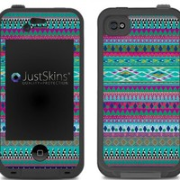 Disco Tribal Skin Decal for Lifeproof iPhone 4/4S Case Design (Case not included)