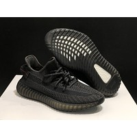 """Adidas Yeezy Boost 350 V2 boost """"Black"""" Sneakers Running Sport Shoes Static Refective Shoes"""