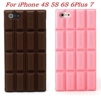 Lovely Chocolate 3D Soft Silicone Rubber Back Cover Case for iPhone 7 6 6s Plus 5 5s 4 4s Phone Cases for iPhone 6 7 shell