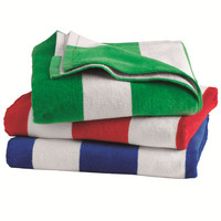 Carmel Towel Company - Cabana Stripe Velour Beach Towel - 3060S