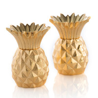 Gold Pineapple Salt & Pepper Shakers