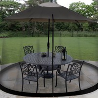 Garden Creations JB5678 Outdoor 9-Foot Umbrella Table Screen, Black:Amazon:Patio, Lawn & Garden