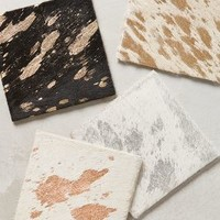 Ory Calfhair Coasters by Anthropologie Multi Set Of 4 House & Home
