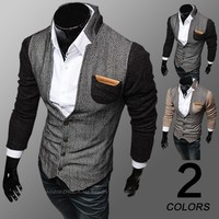 Men's Fashion Mosaic Men Fashion Hoodies Jacket [6528703427]