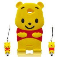 I Need Winnie the Pooh 3d Soft Silicone Case Cover Faceplate Protector for HTC One S 4g