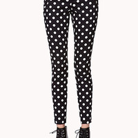 Polka Dot Cigarette Pants