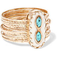 Pascale Monvoisin - Bowie 9-karat rose gold, turquoise and resin ring
