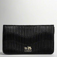 Coach :: Madison Gathered Leather Large Clutch