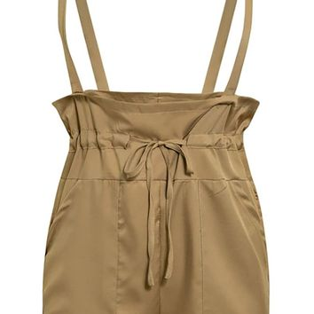 Trend Setter Sleeveless High Waist Loose Drawstring Overall Shorts - 3 Colors Available