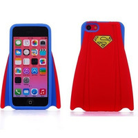 Super Hero Stylish Superman's capes design Soft Silicone Back Case Cover Protective Skin for iphone 5 5S - Red