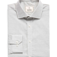 Spread Collar Dress Shirt in Solid Silver