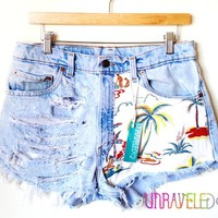 Ripped Vintage Levis Shorts For Fashion Girls