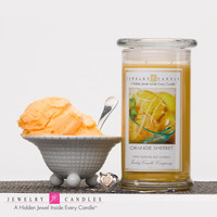 Orange Sherbet Jewelry Candle - Limited Jewels & Ring Sizes!