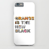 Orange is the New Black! iPhone & iPod Case by Zharaoh