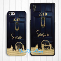 Personalized custom name, 221b sherlock holmes baker case for iPhone 6/4s/5/5s/5c, Samsung S5/Note4, Sony, LG Nexus, Nokia Lumia, HTC One, Moto(K30)