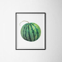 Printable poster, Instant download, Watermelon poster, Geometric poster, Kitchen poster, Kitchen art, Fruit poster