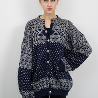 Vintage Norweigen Wool Nordic Cardigan Sweater