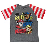 Paw Patrol - Ruff Ruff Rescue Striped Sleeves Toddler T-Shirt