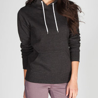 Full Tilt Essential Womens Hoodie Charcoal  In Sizes