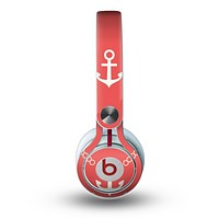 The Vintage Solid Color Anchor Collage All Skin for the Beats by Dre Mixr Headphones