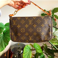 LV Bag Women Wrist Bag Small Bag Coffee Print Bag