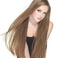 """TRESSMATCH® 20"""" (22"""") Remy (Remi) Human Hair Clip in Extensions Light Brown (Color#8) 9 Pieces(pcs) Thick to Ends Full Head Set [4.5oz/125grams]"""