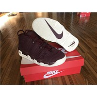 Nike Air more uptempo deep purple Basketball Shoes 38-47
