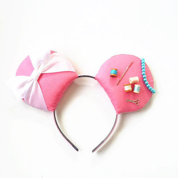 Cinderella Ears, Cinderella Disney Inspired Ears, Cinderella Pink Dress Ears, Cinderella Headband, Cinderella Mickey Ears, Princess Ears
