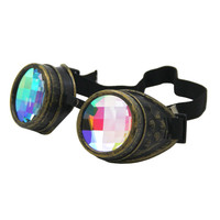 Grid Kaleidoscope Goggles - Copper