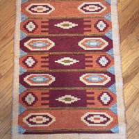 Reversible Authentic Kilim Rug / Size 2x3 - Rug of Ages collection (Bulls Eye)
