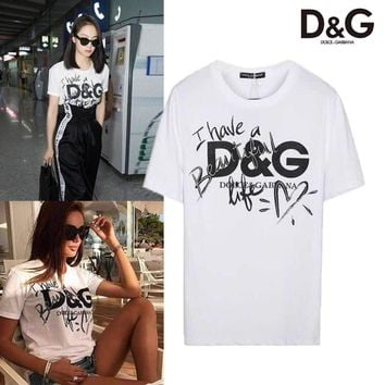 DCCK Dolce And Gabbana Have a beautiful Life T-shirt