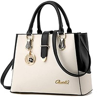Purses and Handbags for Women Tote Shoulder Crossbody Bags, WHITE