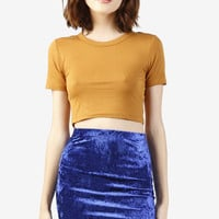 Alize Velvet Mini Skirt - Cobalt