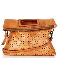 Geo Perforated Crossbody Bag - East West Fusion  - Collections