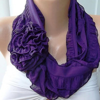 NEW   Elegant Scarf - Gorgeous  Accessories...It made with good quality chiffon fabric...Purple