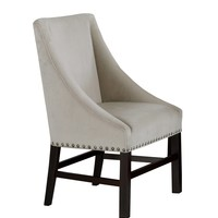 "Dining Chair - 2Pcs / 38""H / Taupe Velvet Fabric"
