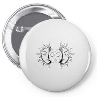 moon and sun Pin-back button