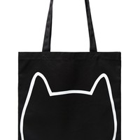 Cat Face Graphic Eco Tote