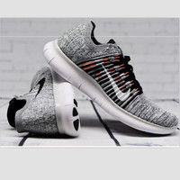 """NIKE"" The new knitted net surface breathable sneaker soft-soled running casual shoes Grey"
