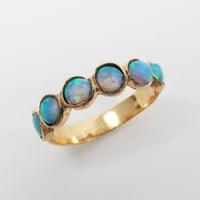 Gold ring. Opal gold ring. opal jewelry, gold jewelry, opal ring, gift for her, birthday gift, gold opal ring