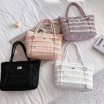 Nike Fashionable Cross-body Hand Hollowed-out Trend Street Tote Bag Retro Versatile Sports Woman