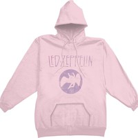Led Zeppelin Women's  Girls Jr Hooded Sweatshirt Pink