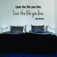Love the Life You Live Bob Marley Quote Decal Wall Vinyl Art Music