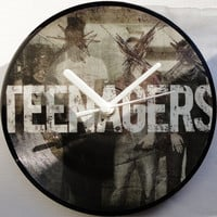 """My Chemical Romance - Teenagers 2006 Picture Disc Vinyl (7"""" 45rpm) Record Clock. Original, Collectable Vinyl Record."""