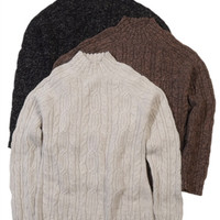 Women's Cable Alpaca Sweaters