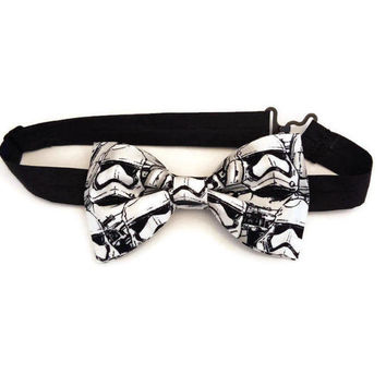 Stormtrooper Bow Tie • Star Wars Bow Tie • Black Bowtie • Storm Trooper Bowtie • Darth Vadar Bowtie • Star Wars Accessories • Gifts For Guys