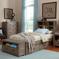 Crosspointe Twin Size Bookcase Bed