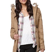LA Hearts Fur Hood Anorak Jacket - Womens Jacket